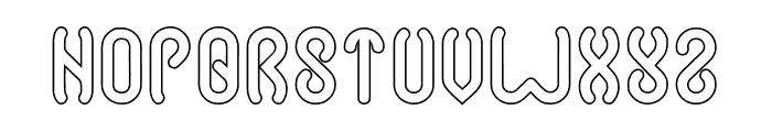 JUSSTA-Hollow Font UPPERCASE