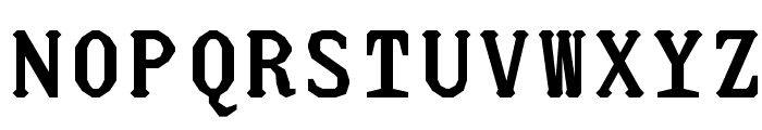 JUstice Mono Bold Font UPPERCASE