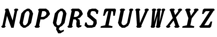 JUstice Mono BoldOblique Font UPPERCASE