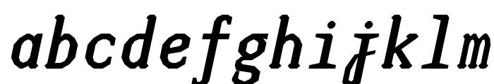 JUstice Mono BoldOblique Font LOWERCASE