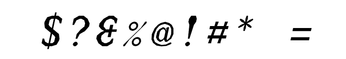 JUstice Mono Oblique Font OTHER CHARS