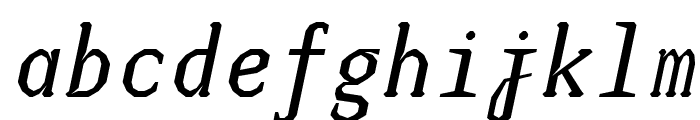 JUstice Mono Oblique Font LOWERCASE