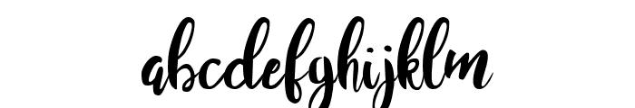 Juanita Brush Smooth Script Font LOWERCASE
