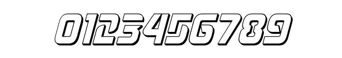 Judge 3D Italic Font OTHER CHARS