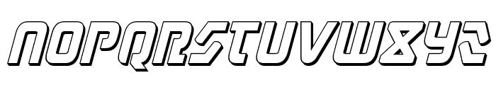 Judge 3D Italic Font LOWERCASE