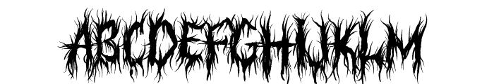 Judgement Territory Font UPPERCASE