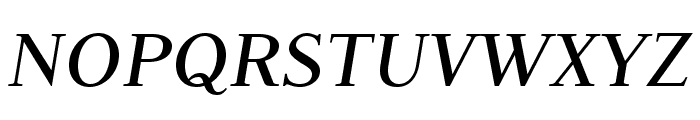 JudsonItalic Font UPPERCASE