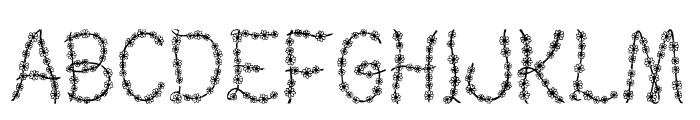 Judy's Garland Font UPPERCASE