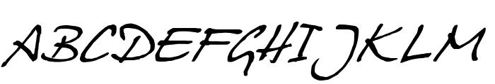 Juergen Italic Font UPPERCASE