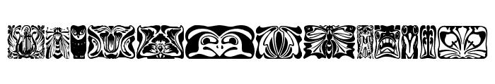 Jugendstil Ornamente Font UPPERCASE