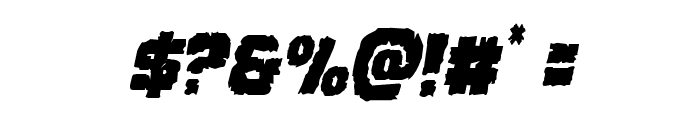 Jugger Rock Condensed Italic Font OTHER CHARS