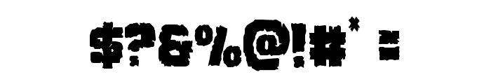 Jugger Rock Condensed Font OTHER CHARS