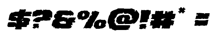 Jugger Rock Expanded Italic Font OTHER CHARS