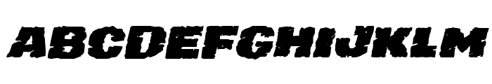 Jugger Rock Expanded Italic Font UPPERCASE