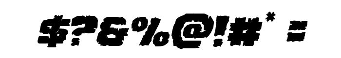 Jugger Rock Italic Font OTHER CHARS