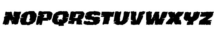 Jugger Rock Italic Font LOWERCASE