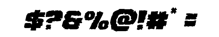 Jugger Rock Staggered Italic Font OTHER CHARS