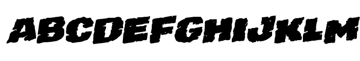 Jugger Rock Staggered Rotalic Font UPPERCASE