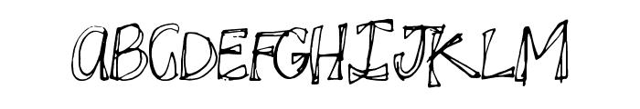 JuicyRags Font UPPERCASE