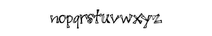 JuicyRags Font LOWERCASE