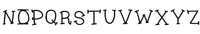 Jukebox Font UPPERCASE