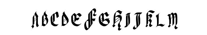 Julia Black Font UPPERCASE