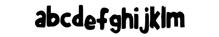 JuliaGBooth Font LOWERCASE