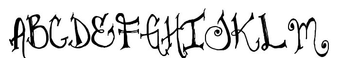 Juliesfancypants Font UPPERCASE
