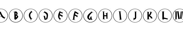 JuliusCaesarDisks Font LOWERCASE