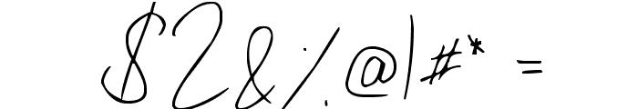 Julliscriptum Font OTHER CHARS