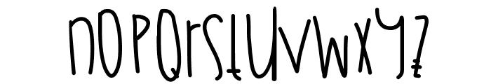 JulyFireworks Font LOWERCASE