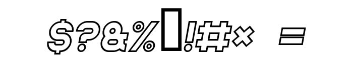 Jumbo Outline Italic Font OTHER CHARS