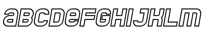 Jumbo Outline Italic Font UPPERCASE