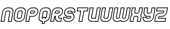 Jumbo Outline Italic Font LOWERCASE