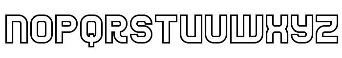 Jumbo Outline Font UPPERCASE