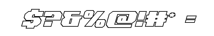 Jumpers Outline Italic Font OTHER CHARS