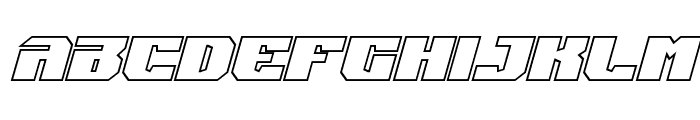 Jumpers Outline Italic Font LOWERCASE