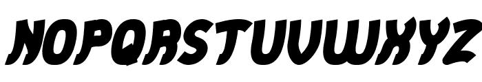 Jumping Running Bold Italic Font UPPERCASE