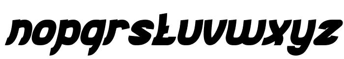 Jumping Running Bold Italic Font LOWERCASE