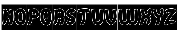 Jumping Running-Hollow-Inverse Font UPPERCASE