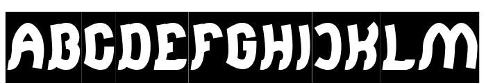 Jumping Running-Inverse Font UPPERCASE