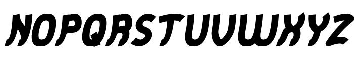 Jumping Running Italic Font UPPERCASE