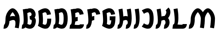 Jumping Running-Light Font UPPERCASE