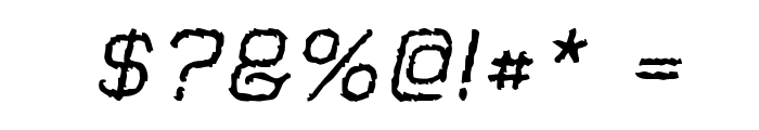 Jungle Burnout Oblique Font OTHER CHARS