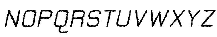 Jungle Burnout Oblique Font UPPERCASE
