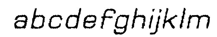 Jungle Burnout Oblique Font LOWERCASE