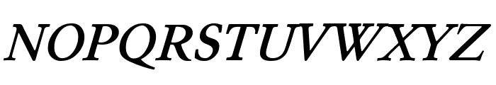 Junicode Bold Italic Font UPPERCASE