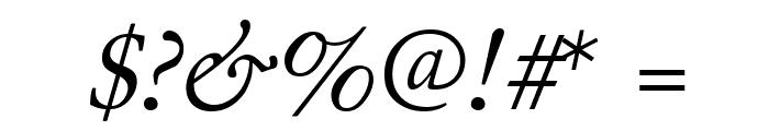 Junicode Italic Font OTHER CHARS