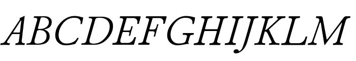 Junicode Italic Font UPPERCASE