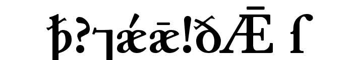 Junius Bold Font OTHER CHARS